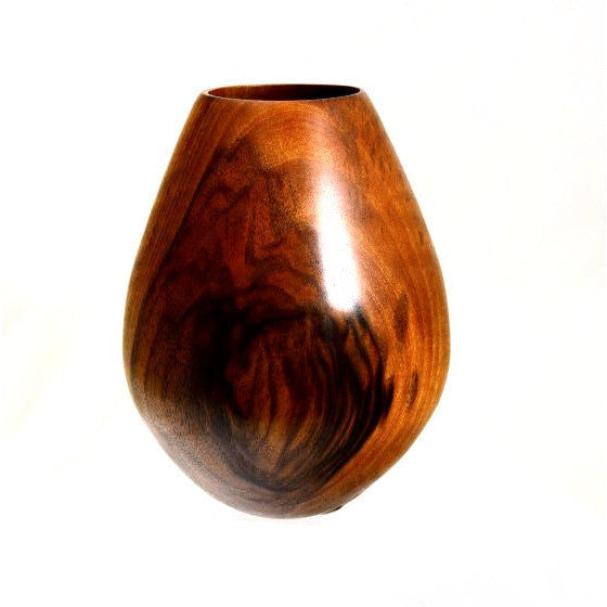 BLACK  WALNUT WOOD VASE - Side Street Studio