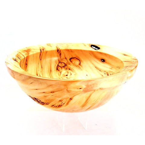 YELLOW CEDAR WOOD BURL SALAD BOWL - Side Street Studio  - 1
