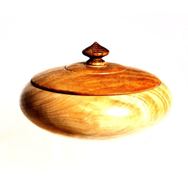 FIGURED MAPLE LIDDED BOWL - Side Street Studio
