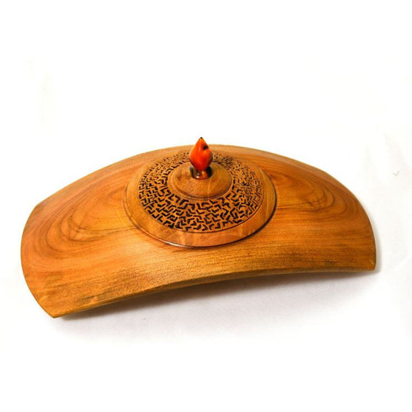 CHERRY WOOD PIERCED LIDDED BOX - Side Street Studio  - 1