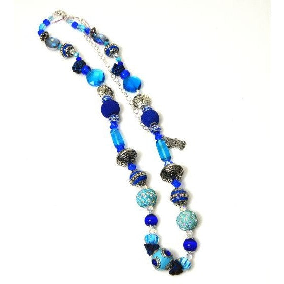 BLUE CAROLYN NECKLACE
