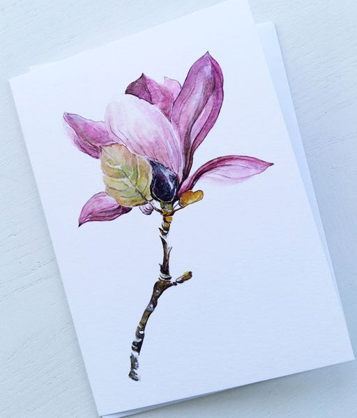 Purple Magnolia 11 Greeting Card