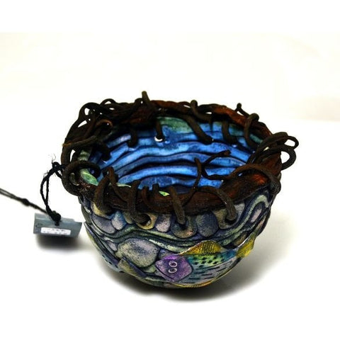 POLYMER CLAY AND KELP WITH SEASTAR BOWL - Side Street Studio - 1