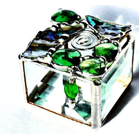 PAUA SHELL GLASS BOX - Side Street Studio