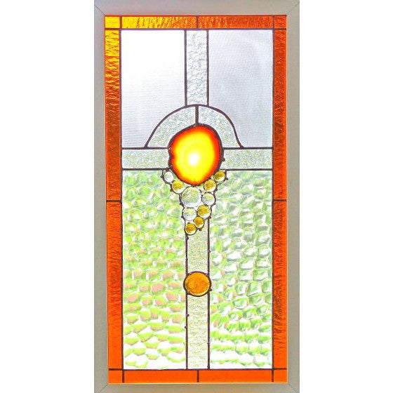 GEODE CROSS GLASS HANGING - Side Street Studio - 1