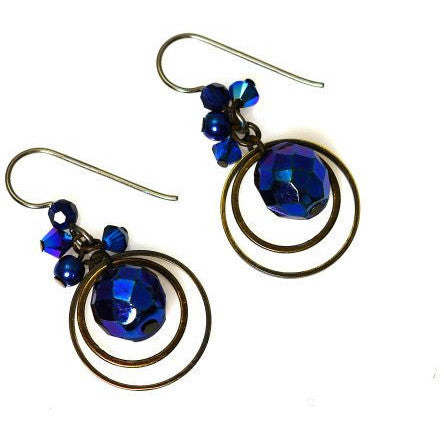 ATLANTIS BLUE EARRINGS - Side Street Studio