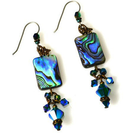 ATLANTIS GREEN EARRINGS - Side Street Studio