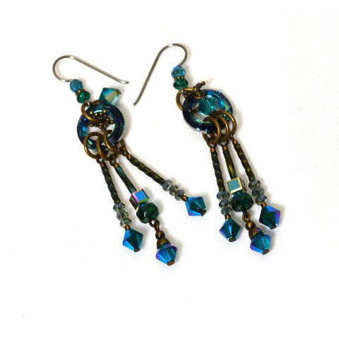 ATLANTIS GREEN EARRINGS - Side Street Studio - 1