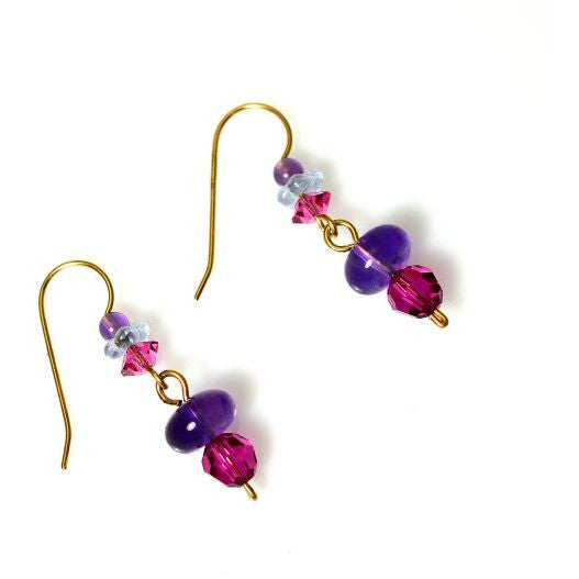 CHANGES AMETHYST EARRINGS - Side Street Studio