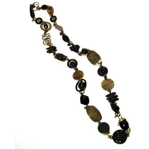 CLASSIC BLACK NECKLACE - Side Street Studio - 1