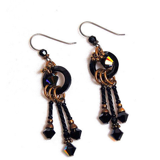 CLASSIC BLACK EARRINGS - Side Street Studio