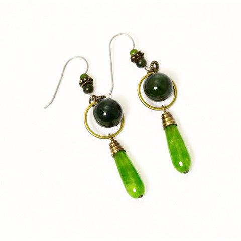 HARMONY JADE EARRINGS - Side Street Studio