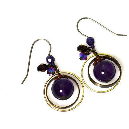 PASSION FOR PURPLE EARRINGS - Side Street Studio