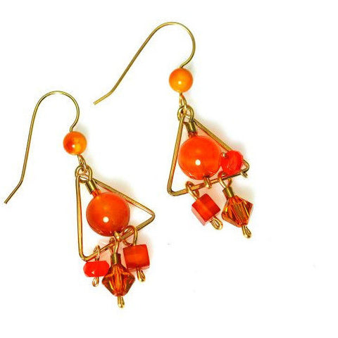 SUN FIRE EARRINGS - Side Street Studio