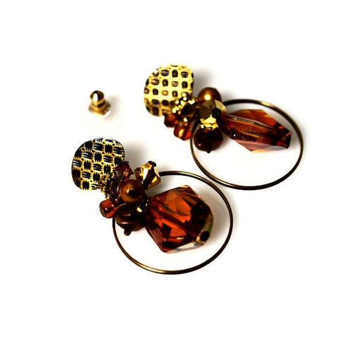 SPICED GOLD EARRINGS - Side Street Studio