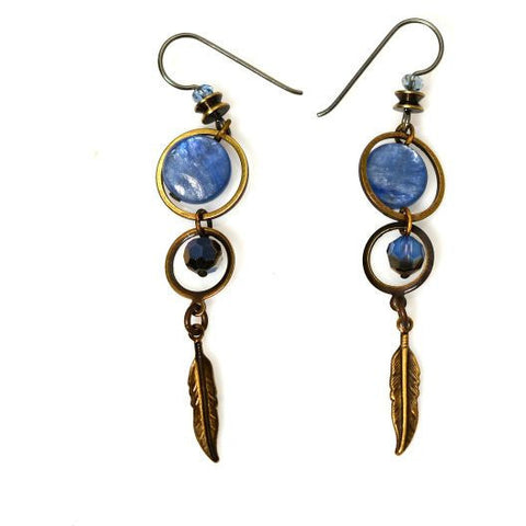 TOFINO BLUE EARRINGS - Side Street Studio