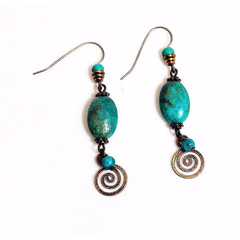 TURQUOISE EARRINGS - Side Street Studio