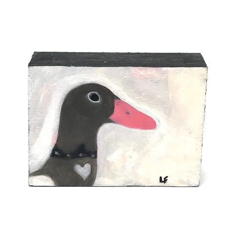 DUCK PAINTED ON WOOD