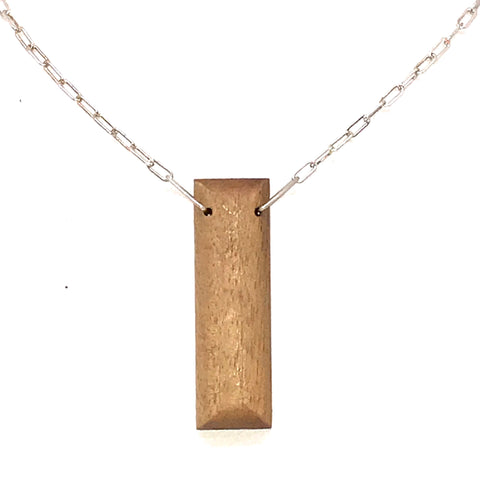 WOOD PENDANT 'I LOVE YOU' RECTANGLE