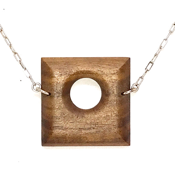 WOOD PENDANT 'I LOVE YOU' SQUARE