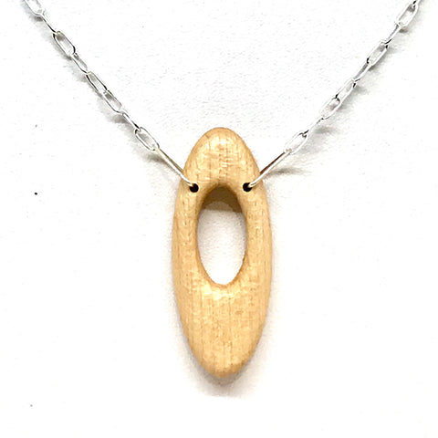 WOOD PENDANT 'I LOVE YOU' OVAL
