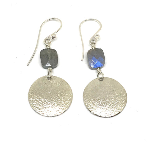 STERLING SILVER AND LABRADORITE EARRINGS