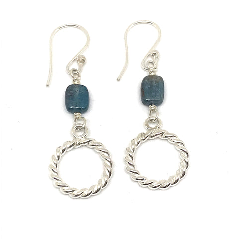STERLING SILVER AND KYANITE EARRINGS
