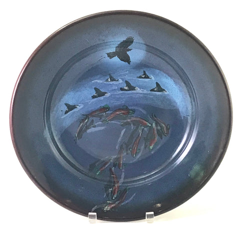 SALMON AND CROW DESIGN PLATTER