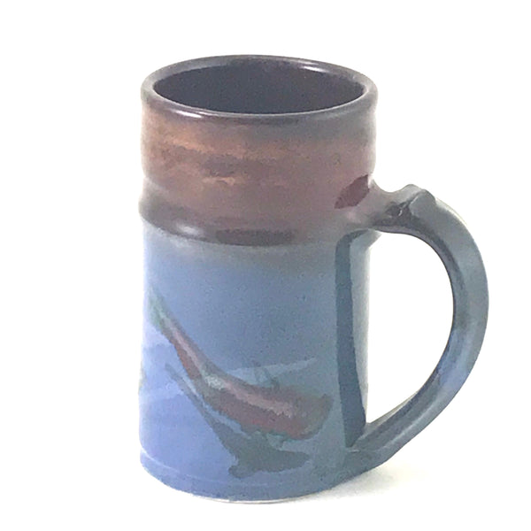 STRAIGHT SALMON DESIGN MUG