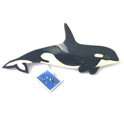 SMALL HANDPAINTED ORCA