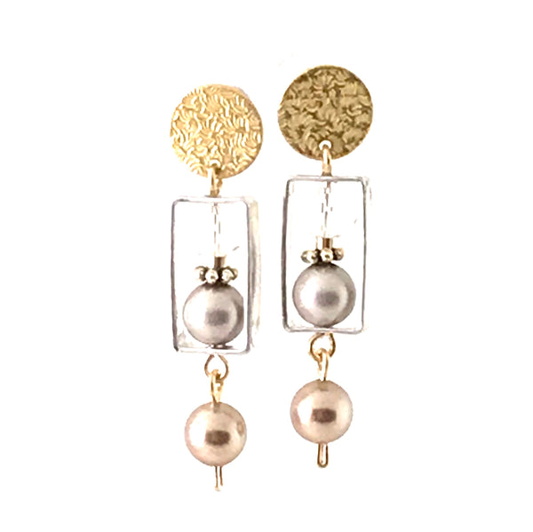CHAMPAGNE CREAM EARRINGS