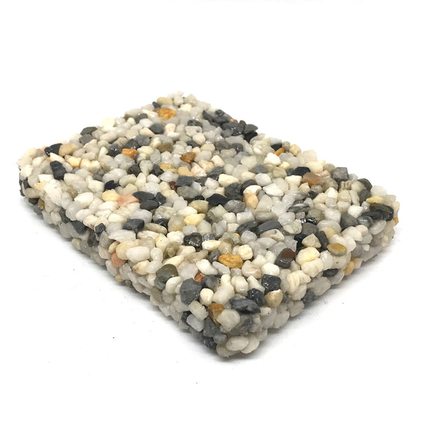 RECTANGULAR WHITE STONE SOAP DISH