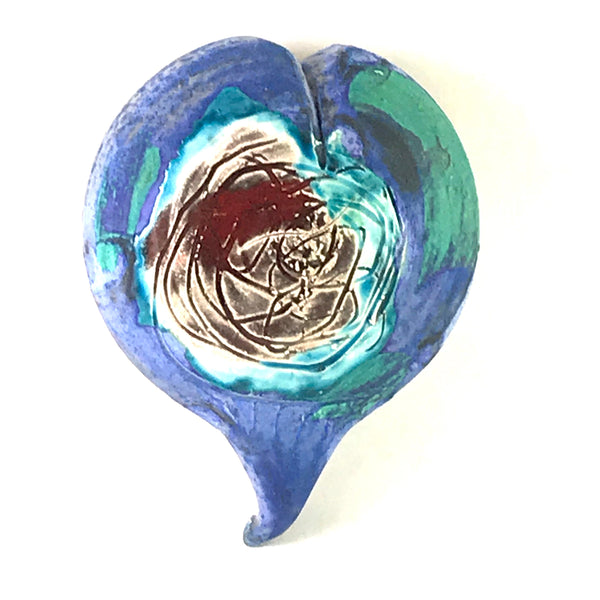 PORCELAIN HANGING CONTAINER - HEART