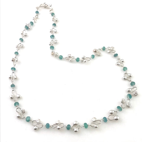STERLING SILVER - LILYDROP NECKLACE - FLOURITE