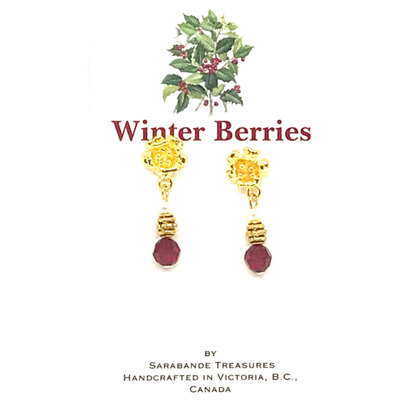 WINTER BERRIES - EARRINGS