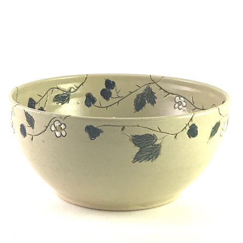 FUNKY FUNGUS LARGE CERAMIC BOWL - BLACKBERRIES