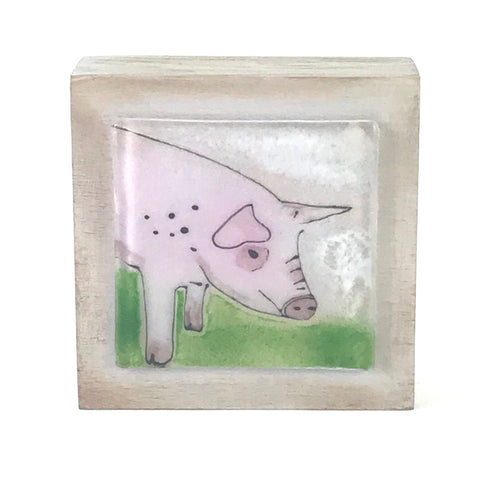 FUSED GLASS ART - PIG