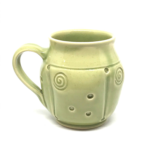 GREEN STAMPED MUGS