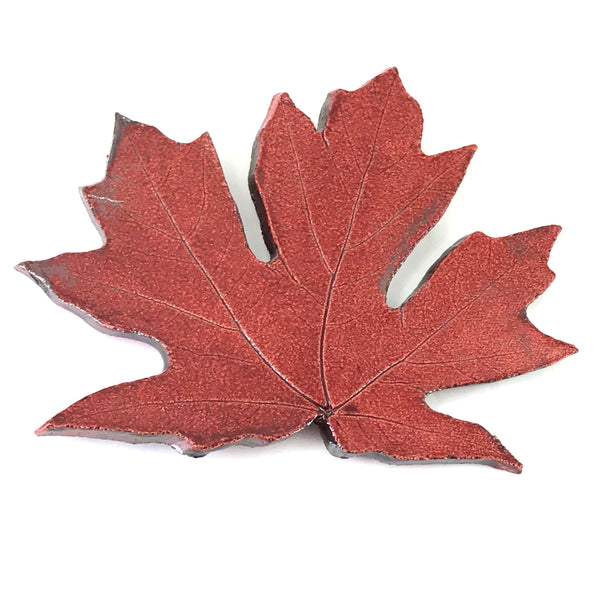 LARGE RAKU MAPLE LEAF