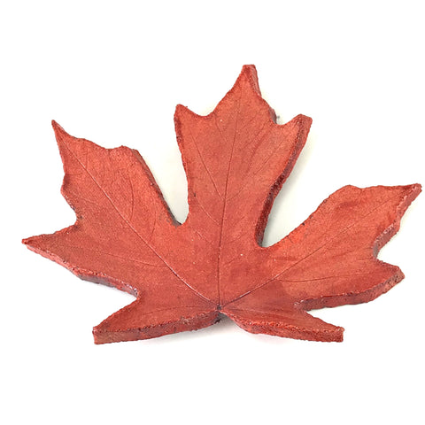 MEDIUM RAKU MAPLE LEAF - RED