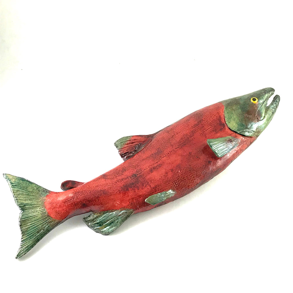 Raku Sockeye Salmon, female