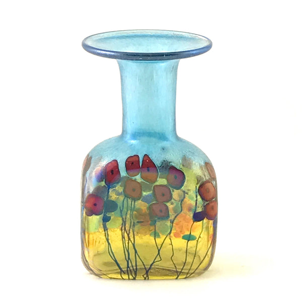 California Poppy rectangle mini vase