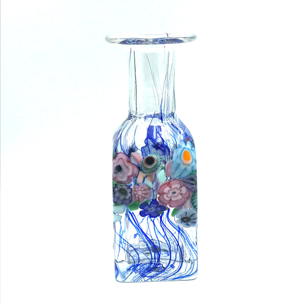 Clear Flower Bouquet Square Mini Vase