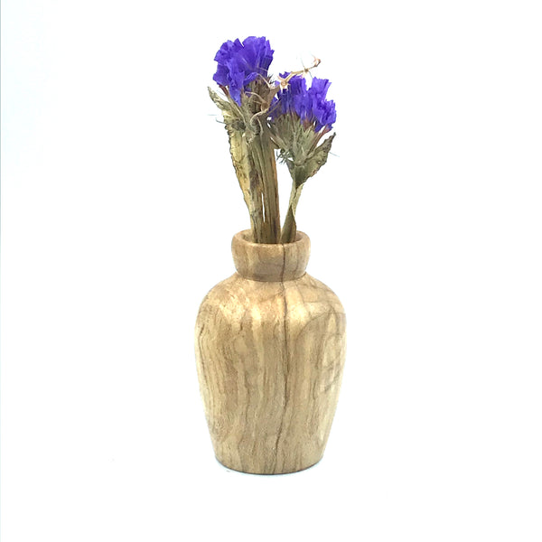 Mini Broadleaf Maple Burl Wood Vase 2 inches