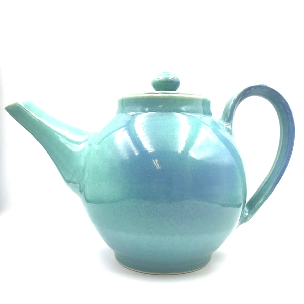 Ceramic Tea Pot in Aqua Design