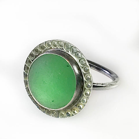 GREEN SHIPWRECK MARBLE RING