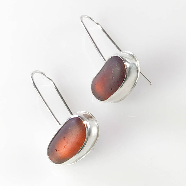 BROWN PAPERCLIP EARRINGS