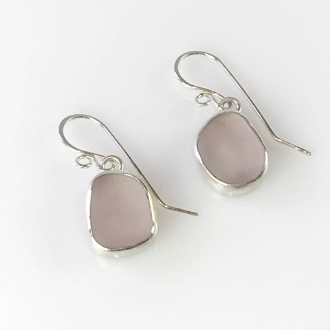PALE GREY/LAVENDER DANGLY EARRINGS