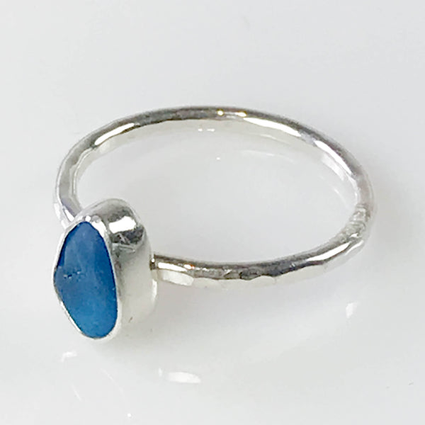 ELECTRIC BLUE STACKING RING