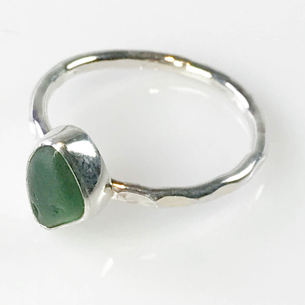 DARK GREEN STACKING RING